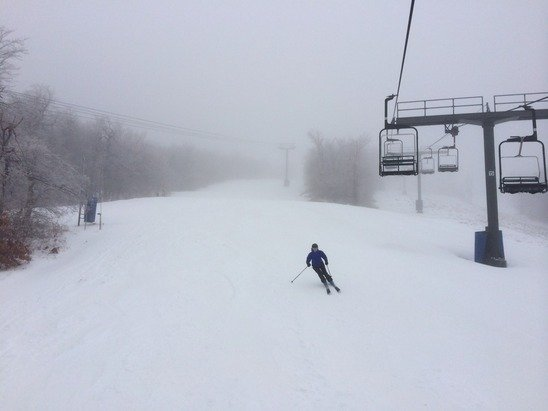 Rained all day, but good skiing and all to yourself