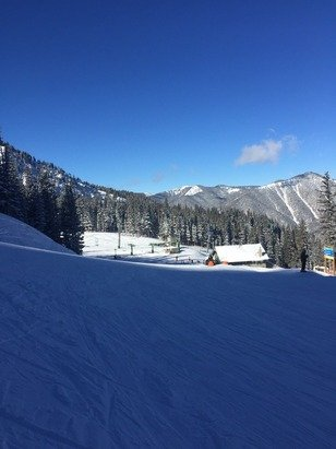 Great conditions.  They open the backside lift, Lorelei, and more today!