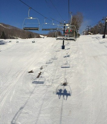 Nice conditions Saturday for only having one snow dump. Hard packed and consistent throughout