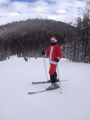 Great day on the Mtn with Santa plenty of groomers!!