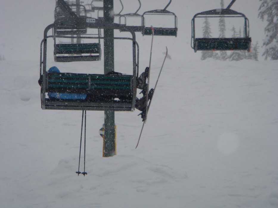 Chillin' on the chairlift, Whitewater style. - ©Whitewater