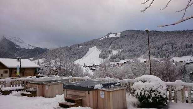big dump in morzine. snow everywhere