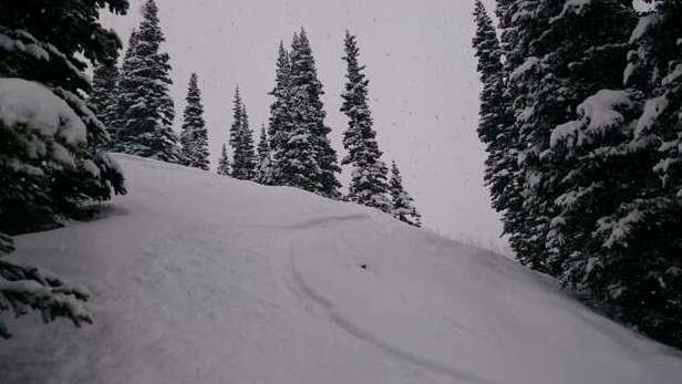 Amazing day on the mountain today. 5-10 inches of powder everywhere. Still snowing.