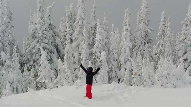 awesome few days at silverstar. snowed all day on Saturday. better than whistler. great mountain, lots of pow in the woods.