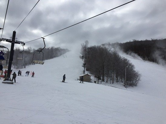 Very nice snow today and way better base than Sugar Mtn. Whole family enjoyed the day.