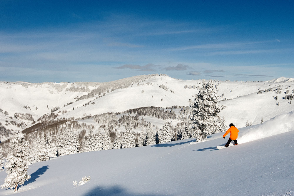 The aftermath of a storm in Blue Sky Basin–fresh tracks galore. - ©Daniel Milchev / Vail