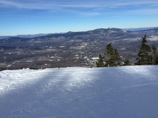 Good day. Warmed up quick no wind good coverage. Gondi line is nice. Wish lifts were faster no high speed quads outside of the super and wiffle is rough. Super is running slow to but great Maine mountain and if it snows it's going to be crazy good. Bag burger 4life