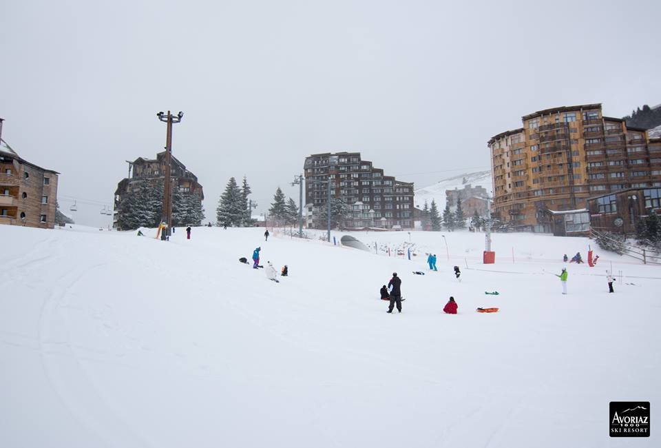 10cm of fresh snow in Avoriaz Jan. 14, 2015 - ©Avoriaz