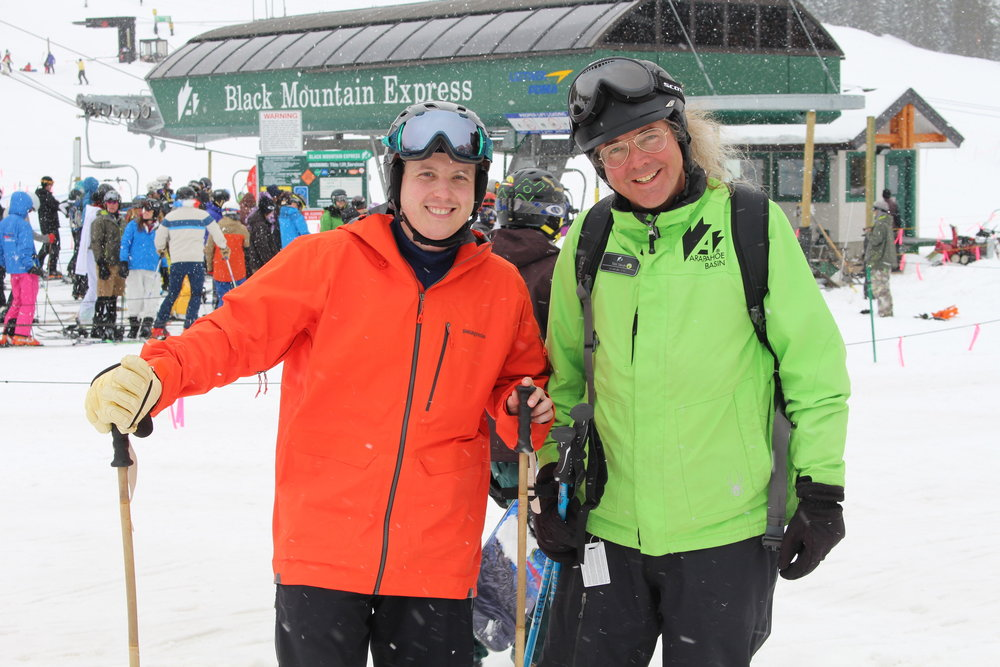 "The telemark journey began at Colorado's Arapahoe Basin for a lesson from ""Tele Tim"" Stroh."