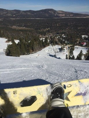 Pretty good today for the lack of natural snow. Snow making teams did a great job covering the runs. Was a ton a fun.