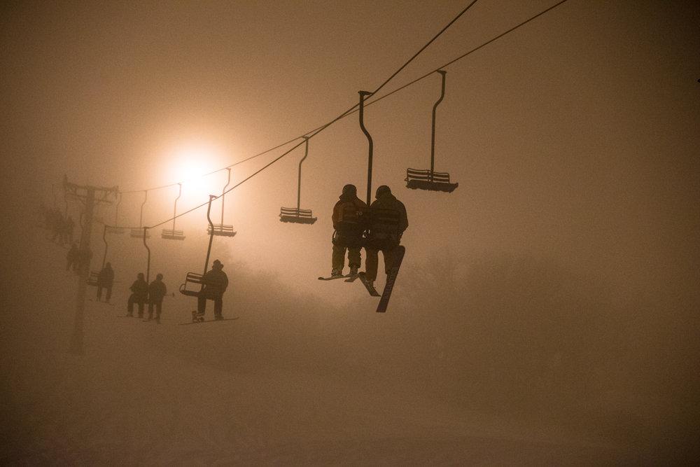 Into the fog at Hesperus. - ©Liam Doran