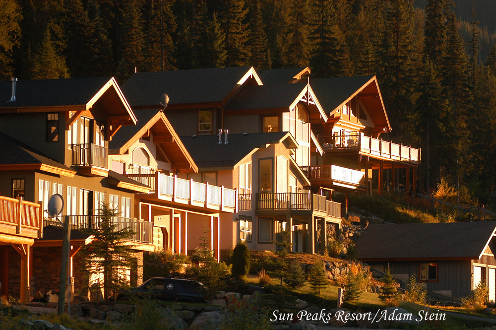 Lodging cabins at Sun Peaks village