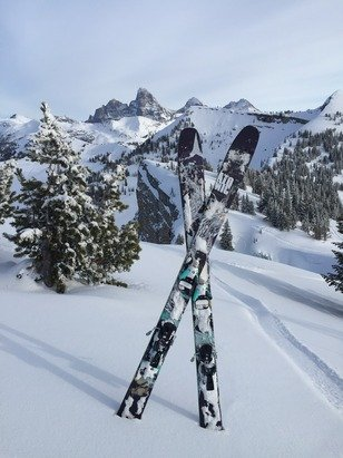 This has got to be one of the best ski views in the world!