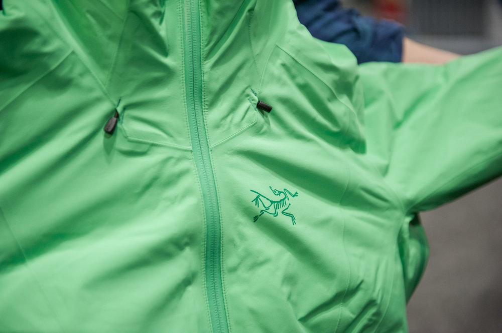 New-for-2015/16 season Arc'teryx jacket. - ©Ashleigh Miller Photography