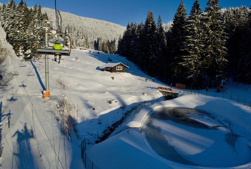 Sunshine in czech ski resort Small Rivers (Říčky) - ©Facebook Říčky