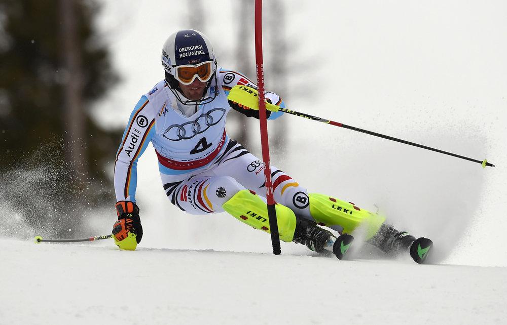 Im Tunnel: Fritz Dopfer fuhr zu Silber im WM-Slalom 2015 - ©Audi Media-Service