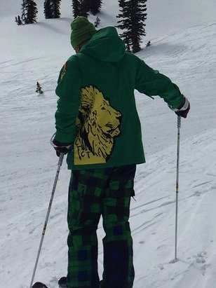 Ran into this Russian guy on the middle bowl lift yesterday. I could hear Katy Perry's