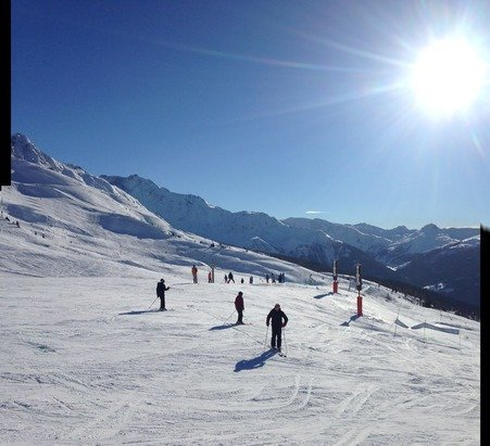 Great short break 3 days skiing in piesey and Les arc great conditions.