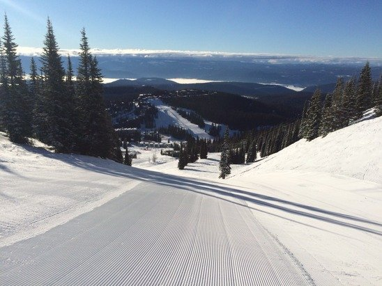 We just finished a fine week of skiing at Silver Star.  In an ordinary year, I might complain about the alternating hard pack and soft spring conditions.  Or the lack of new snow, except for a dusting on Thursday.  But this year I was grateful to find a solid base and great sunny weather.