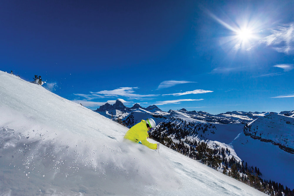 Grand Targhee topped the deepest snowpack in the West by late February. - ©Grand Targhee Resort