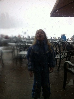 Big flakes on Saturday. Winter is just getting started!