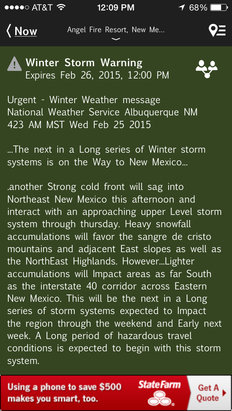 Winter Storm Warning  Bring It!