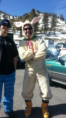 easter bunny brought snow, time  for  powder