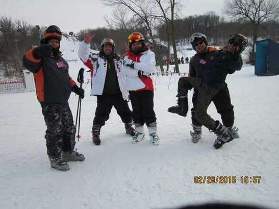 Great time on the slopes of Alpine Valley ski resort!