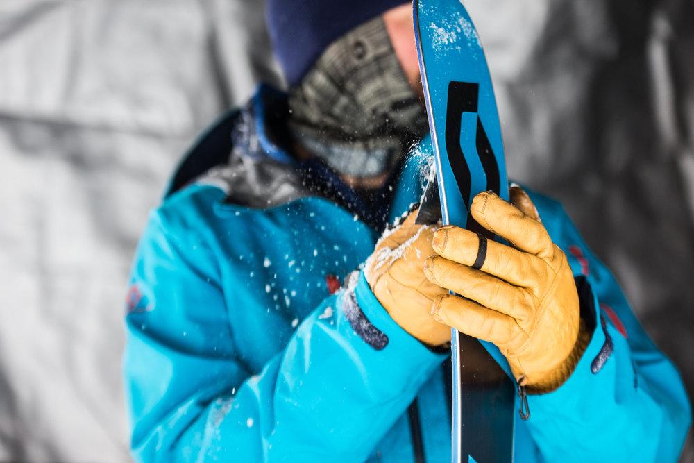 Manufacturers keep skis in tip top between runs. - © Liam Doran