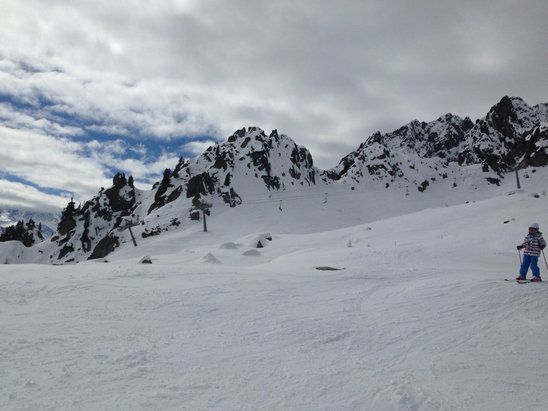 Les Marécottes - Salvan - Firsthand Ski Report - ©Emil's iPhone