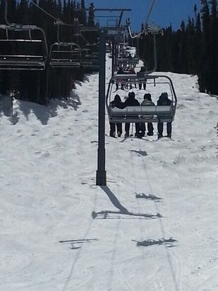 Copper Mountain Resort - warm and sunny, wet and slushy on the lower half. the top half was fun, though
