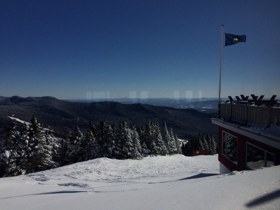 Stowe Mountain Resort - Bluebird, nippy (12 F this am, no wind), hard packed, impeccably groomed