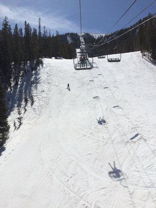 Taos Ski Valley - Slush on the lower mountain, ice mid mountain and pretty good on upper parts.