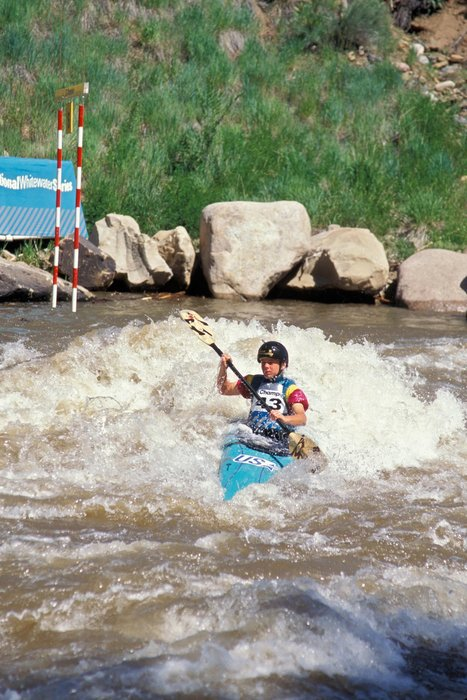 Whitewater kayaking on the Animas River, Durango, CO.