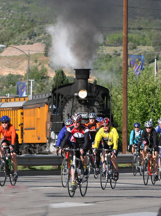 Bike racers in the Durango Iron Horse Classic.