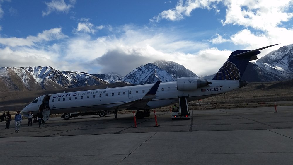 Mammoth had us at the airport already. - ©Heather B. Fried