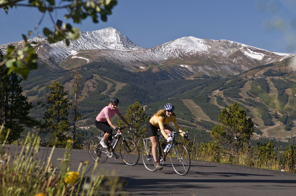Bikers near Breckenridge, CO. Image by Carl Scofield.