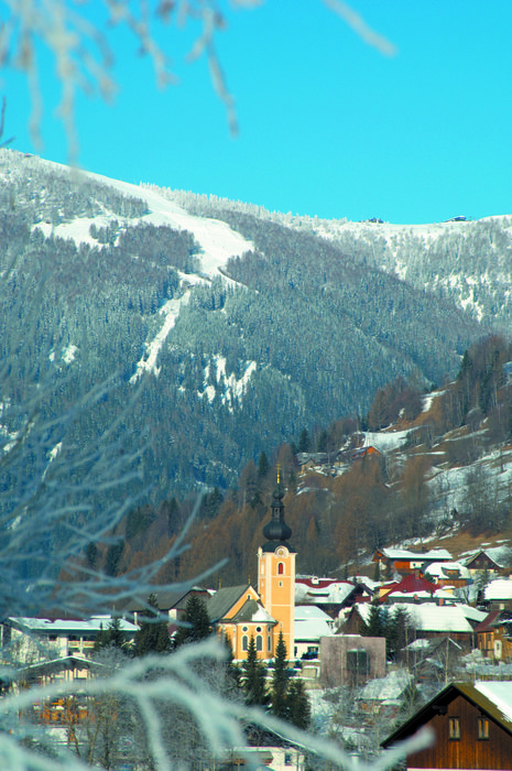 The scenic village of Bad Kleinkirchheim, Austria