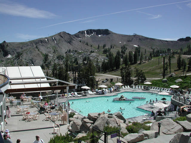 Squaw Valley village swimming pool