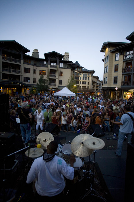 A crowd gathered at Village at Squaw Valley's Brews, Jazz & Funk Fest.