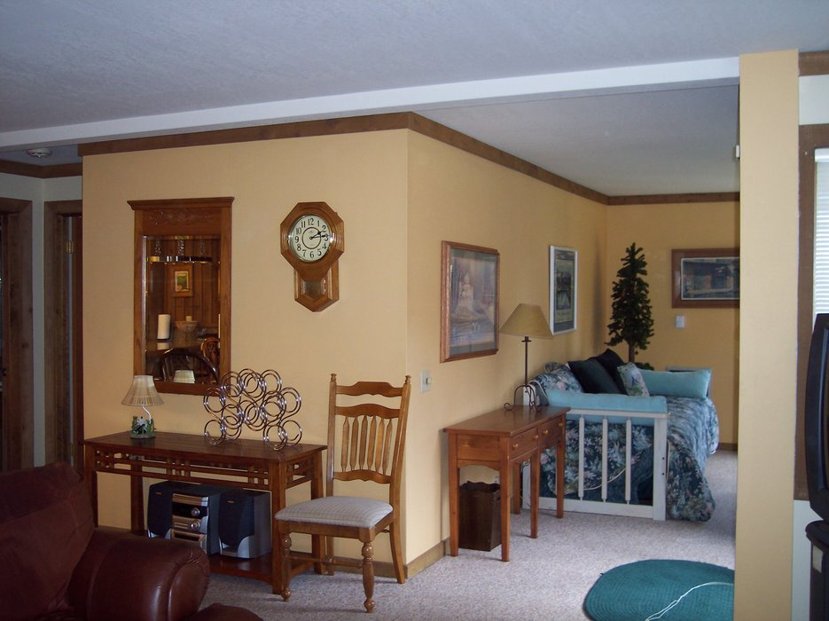 A living room area of Mountainback Condos.