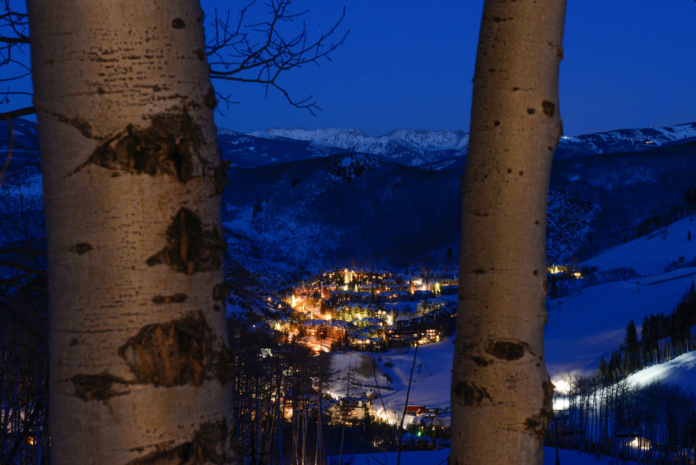 The views looking down at Beaver Creek village are almost as good as looking up at the mountain. - ©Jack Affleck