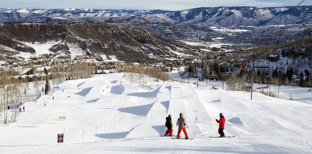 Snowmass' terrain park spread. - ©Jeremy Swanson