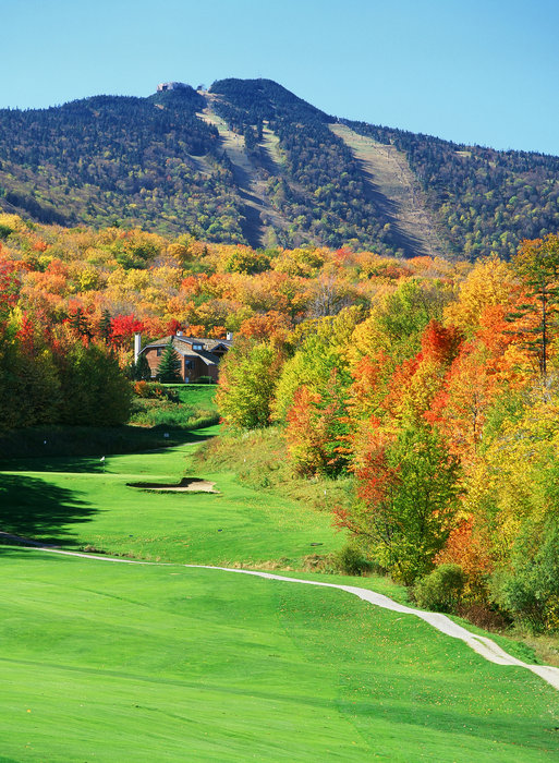 Fall colors at Killington Golf COurse.