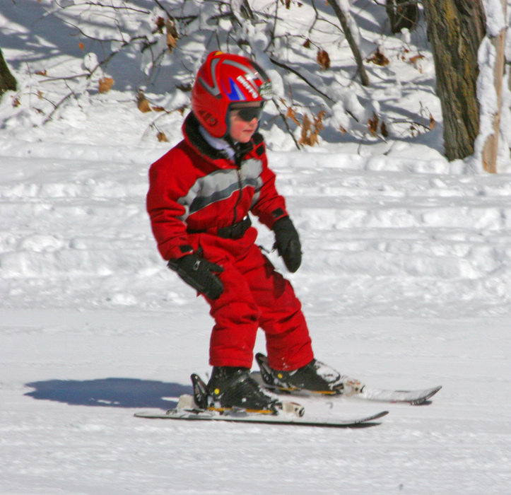 Skiing child at Wild Mountain, MN