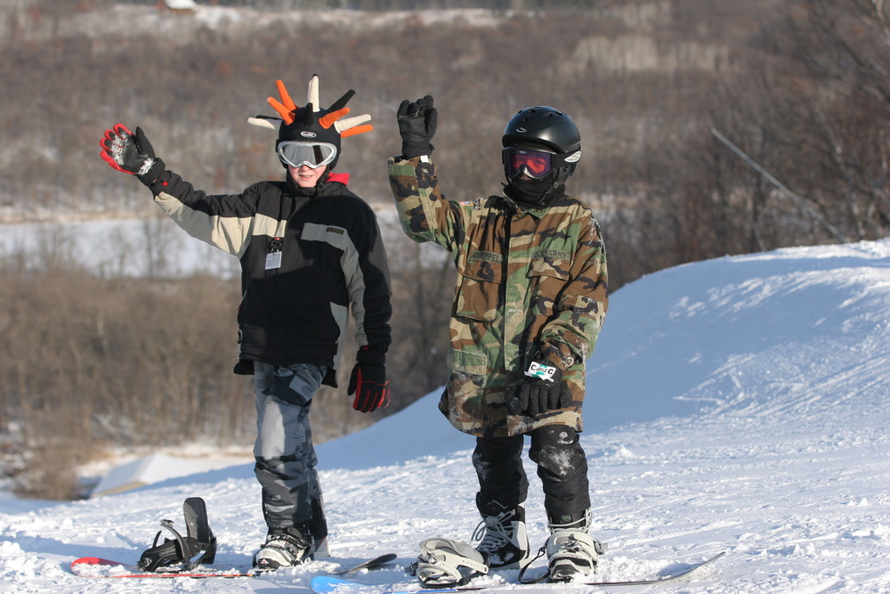A pair of children at Wild Mountain, MN