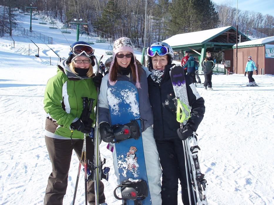 Trio of young women at Wild Mountain, MN