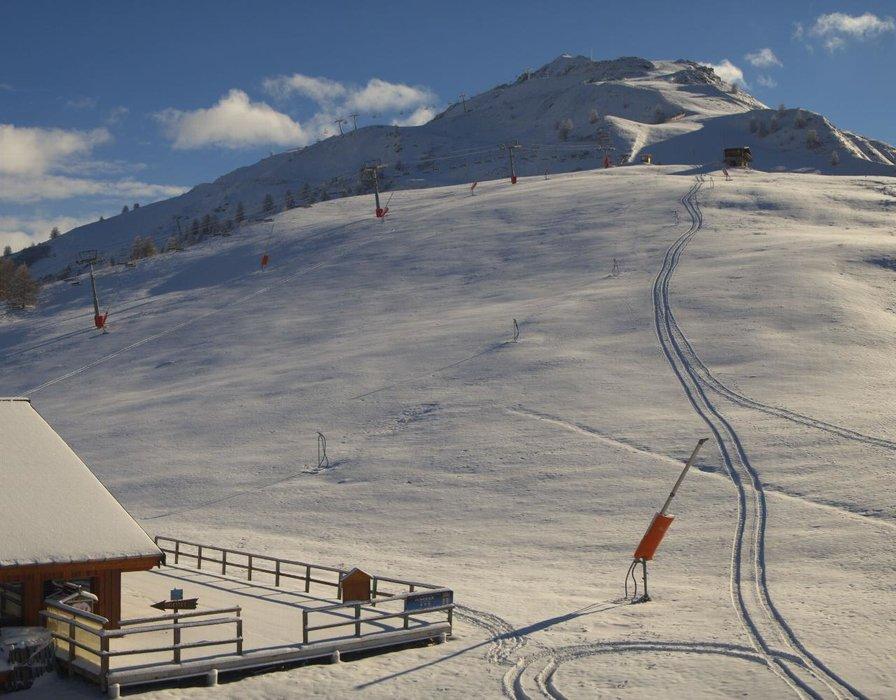 Valloire ce midi entre neige au soleil