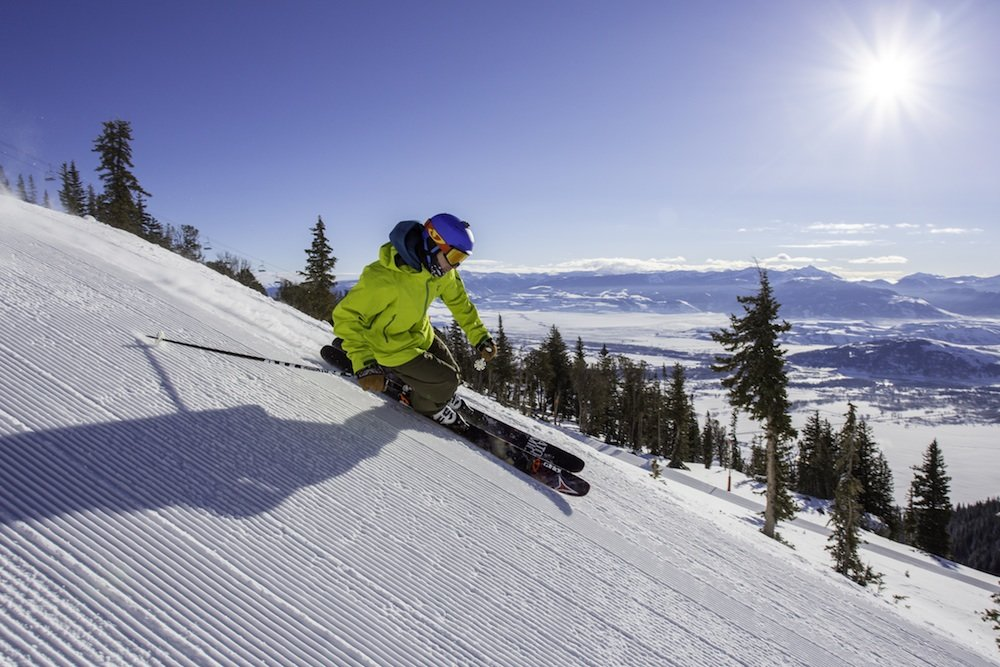 Fresh groomers at Jackson Hole Mountain Resort - ©Jackson Hole Mountain Resort