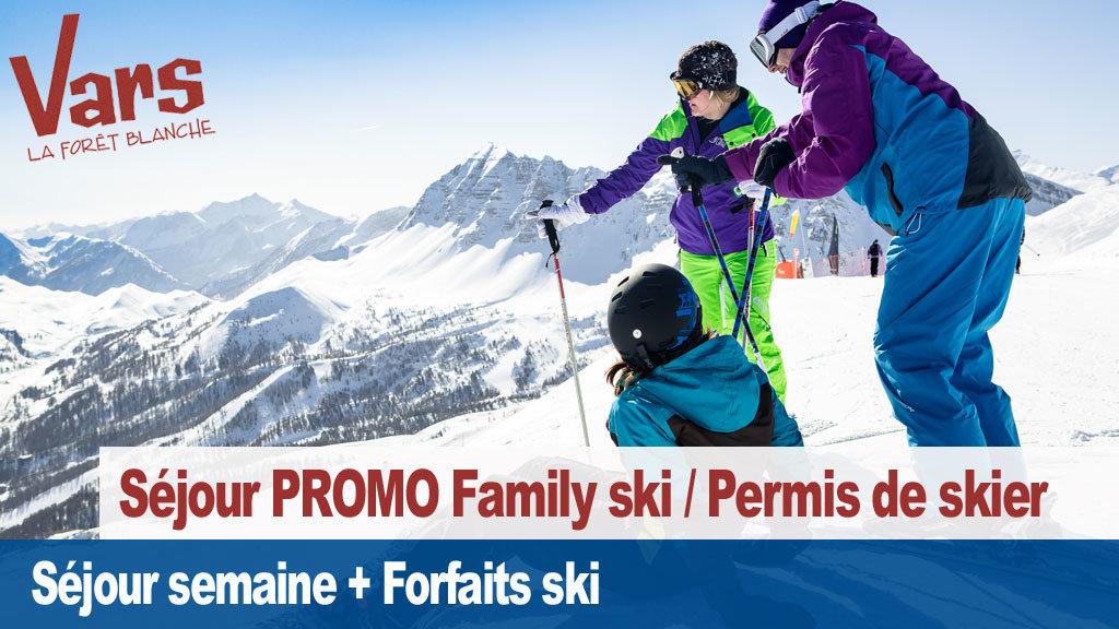 vars permis de skier family ski - ©Vars